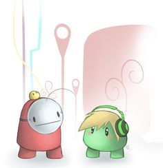 Ibb and Obb, PewdieCry by ~SavannaEve on deviantART http://www.deviantart.com/art/Ibb-and-Obb-PewdieCry-392921374