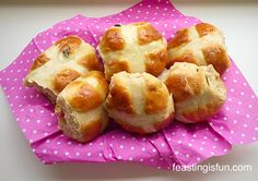 Cherry Bakewell Hot Cross Buns a delicious twist on a traditional Easter bake these are fantastic!