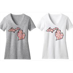 New Michigan Heart Tees! Livnfresh.com