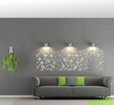 Nalepovacie dekoračné zrkadlo do obývačky