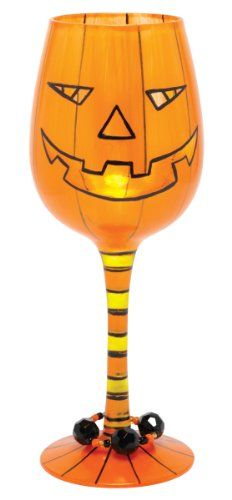 Lolita Halloween Pumpkin Potion Wine Glass * You can get more details by clicking on the image. (This is an affiliate link) #WineGlasses