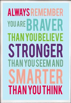 Stronger than you seem. Inspirational quote