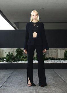 Black pants with slits | Jovana Markovic | NOT JUST A LABEL