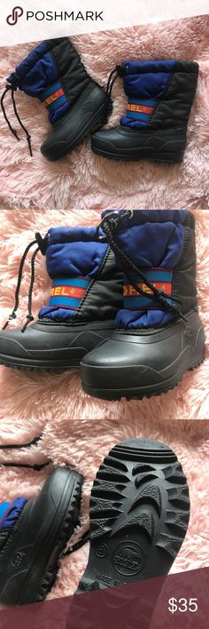 Sorel Waterproof Boots Toddler Boys 8 This is a pair of sorel waterproof boots in a toddler boys size 8. In great condition. Very nice boots. Bundle up! Sorel Shoes Rain & Snow Boots