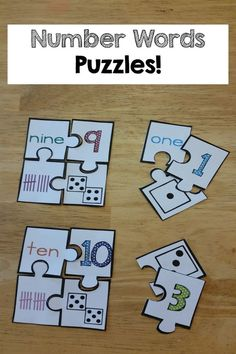 Number Words printables and activities! The kids learned number words so fast and with FUN puzzles and activities! #learnmathfastsystem
