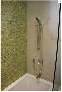 Alysedwards' Gigi green glass tile and white limestone. So clean and green!