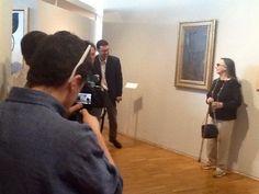 Collezione PaoloVI Museo Arte Contemporanea donazione opera #DoloresPuthod les pleureuses con il direttore del Museo #PaoloBolpagni