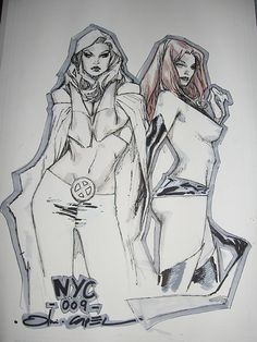 emma frost. jean grey. Olivier Coipel