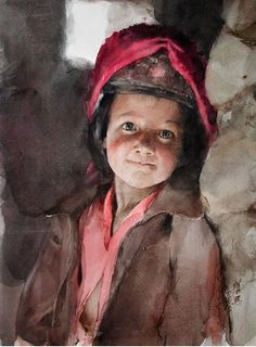 Guan Weixing's watercolors--First look into the world
