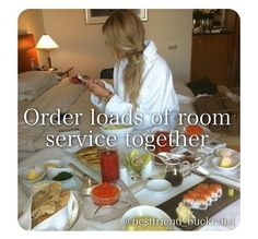 Best Friend Bucket List- order loads of room service together Best Friend Bucket List, Best Friend Goals, Best Friends, Friends Forever, Summer Bucket Lists, Breakfast In Bed, Perfect Breakfast, Recipe Of The Day, I Am Awesome