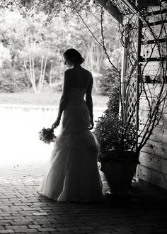 A recent Bridal Portrait shot in the gardens of Fearrington Village by #KrystalKast of Krystal Kast Photography