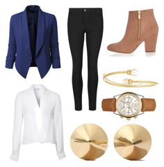 The Robin Scherbatsky by cflynn-1 on Polyvore featuring polyvore, fashion, style, Lipsy, LE3NO, Indigo Collection, River Island, Eddie Borgo, Michael Kors, Kenneth Jay Lane and clothing