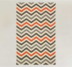 love this 5x8 chevron rug from Dwell Studio but not the price ($385) -- could I make my own with textile paint on a plain rug?