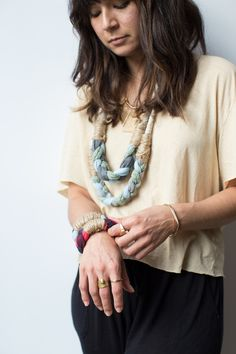 Refurbish your old t-shirts with Alternative's braided jewelry #DIY