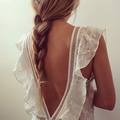 soft braid with flutter sleeve dress
