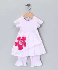 Take a look at this Grape Mist Poppy Dress & Leggings - Infant & Toddler  by Keedo on #zulily today!