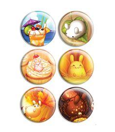 Puddle Bunnies Button Set 2