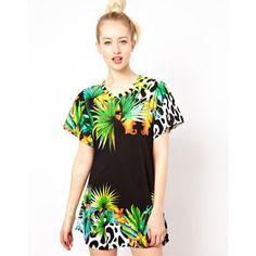 Fairground Baloo Jungle T Shirt Dress ($127) ❤ liked on Polyvore