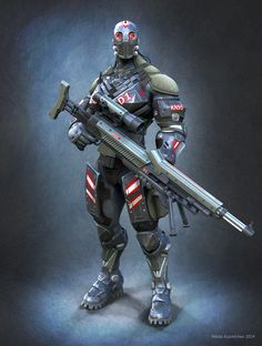 Sci-fi Soldier by Nikita Kumichev