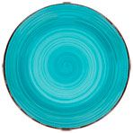 "Royal Norfolk Turquoise Swirl Stoneware Plates, 10½"" Dollar tree"