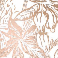 HOTHOUSE wallpaper in copper-rose / white by Erica Wakerly Foyer Wallpaper, Wallpaper Samples, Gold Metallic Wallpaper, White Wallpaper, Black Gold Bedroom, Hothouse, Black Gold Jewelry, Copper Rose, Foyer Decorating