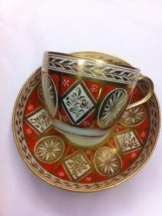 Spode Cup and Saucer - One Spode cup and saucer. Pinxton pattern, circa 1800-1810. Price: $695.00