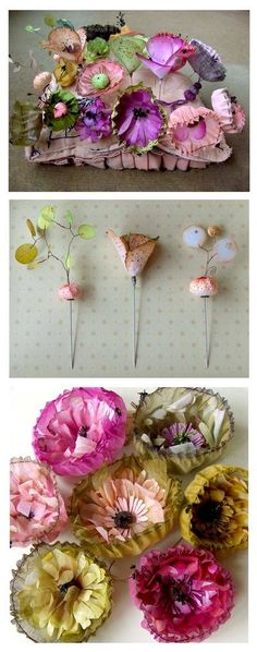 coffee filter flowers... these would be so cute for spring