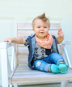 Look at this Hugme Sew Orange & Cream Abstract Scarf Bib on #zulily today!
