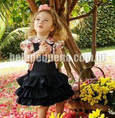 Roupa infantil Jeans Claro, Girls Dresses, Flower Girl Dresses, E 10, Wedding Dresses, Camisa Floral, Floral Rosa, Julia, Frozen