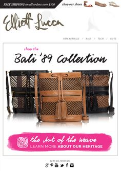 #Shop the Bali '89 collection and then learn more about our heritage with The Art of the Weave!