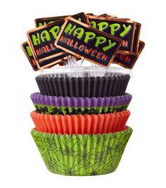 Wilton® Standard And Mini Baking Cups-Halloween 125/Pkg