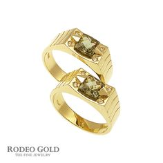 Gold rings with gemstones TCR86566