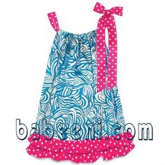 Blue wavy pillow case dress Size: Material: Blue Wavy + hot pink zebra OEM service Big promotion this month Baby Outfits, Modest Outfits, Kids Outfits, Girls Smocked Dresses, Little Girl Dresses, Smocked Clothing, Baby Dresses, Pillow Dress, Baby Kids Clothes