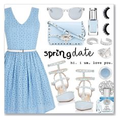 """Spring date"" by dressedbyrose ❤ liked on Polyvore featuring Yumi, Valentino, Sun Buddies, Leighton Denny, Vince Camuto, Givenchy and Ippolita"
