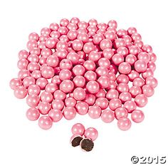 Shimmer Bright Pink Chocolate Candies , $9.25 2 lb(s) , oriental trading