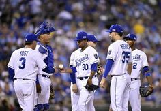 When skipper Ned Yost yanked young Yordano Ventura (center) in the sixth, some speculated that the careers of both had been dealt a crippling blow. But the Royals were able to flip the script as the game progressed.