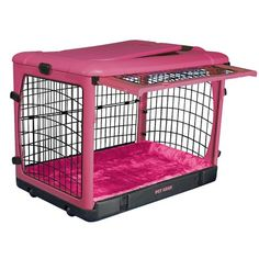 Pet Gear Deluxe Steel Dog Crate in Pink