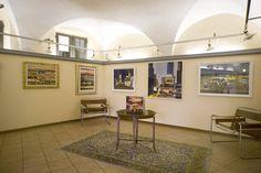 Spazi espositivi della Galleria d'Arte moderna e contemporanea Mentana a Firenze