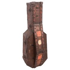 1800's English wooden cello case | From a unique collection of antique and modern musical instruments at http://www.1stdibs.com/furniture/more-furniture-collectibles/musical-instruments/