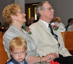 Larry wasn't as enthused about his grandparent's 50th anniversary. And yes, his real name is Larry. (submitted by Amanda)
