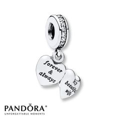 PANDORA Dangle Charm My Beautiful Wife Sterling Silver