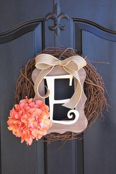 Burlap Wreath -  Wreaths - Summer Wreath for door - Summer Wreath - Home Decor -Gift idea on Etsy, $68.00