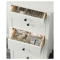 HEMNES 5-drawer chest - white stain - IKEA