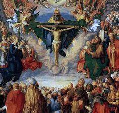 Obra de Alberto Durero La Crucifixión, pintura renacentista religiosa alemana por Durero.