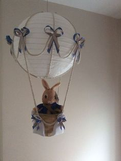 Hot Air Balloon Lamp/light shade. With Peter Rabbit £29.00 + £4.50 postage