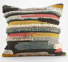 Loloi Rugs Multi Multi-Colored Pillow with Wool and Cotton Cover and Choic 22 X 22 with Polyester Insert Bedding Pillows Throw Textiles, Deco Originale, Colorful Pillows, Home Living, Living Room, Rug Hooking, Soft Furnishings, Decorative Pillows, Home Accessories