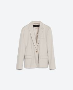 ZARA - COLLECTION AW15 - BLAZER WITH BUTTON FASTENING