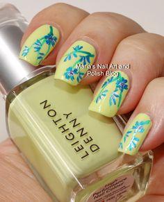 Shipwrecked floral nail art
