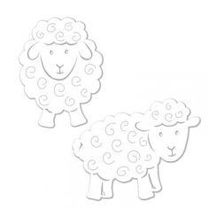 Výřez ovečky malé - mix, 12 ks