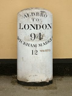 Question 15.	From where in Aldeburgh is it 94 miles to London?